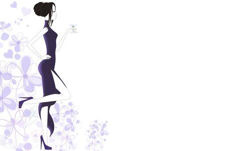 Fashion pretty woman Stock Photo