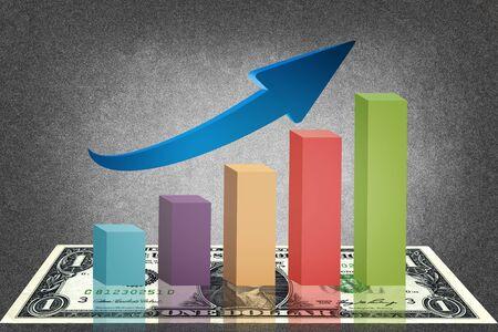 Infographics of economic data Stock Photo