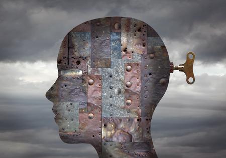 Metalowa główka z kluczem