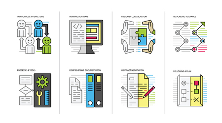 Agile Values Vector Icons Stock fotó - 120859701