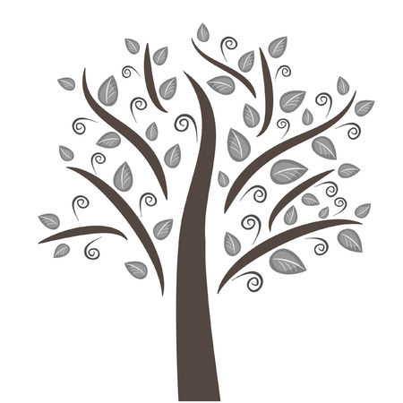 A beautiful tree can be used as a logo, an element of any design. Suitable for any project Archivio Fotografico - 96397400