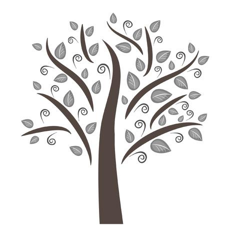 Un bellissimo albero può essere usato come un logo, un elemento di qualsiasi design. Adatto a qualsiasi progetto