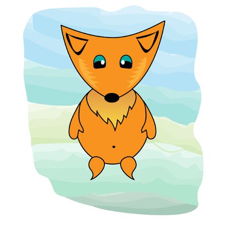 cute fox 向量圖像