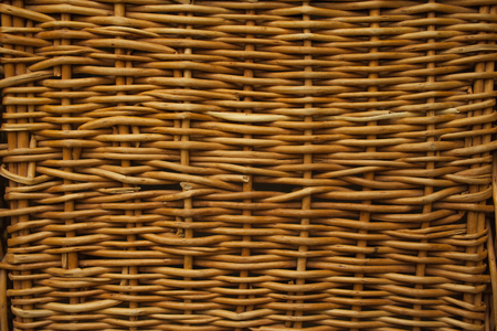 Texture of woven basket for background closeup