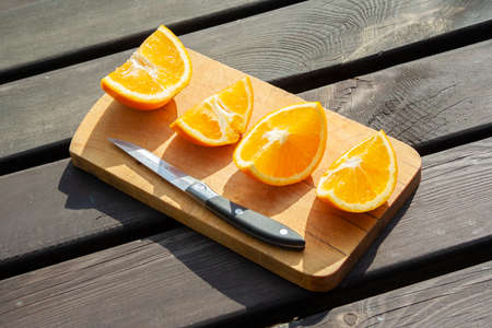 appetizing cutted pieces of orange