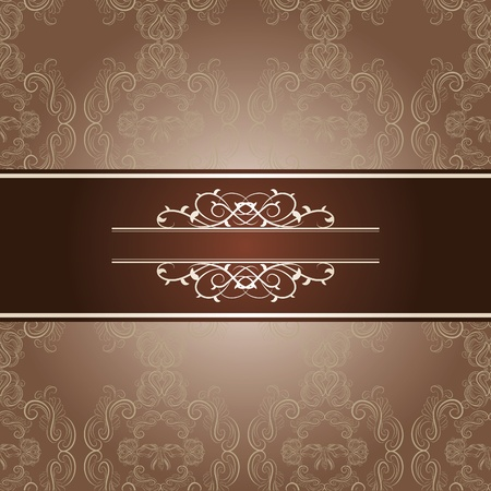 elegant frame on beautiful damask background Stock Vector - 12497533