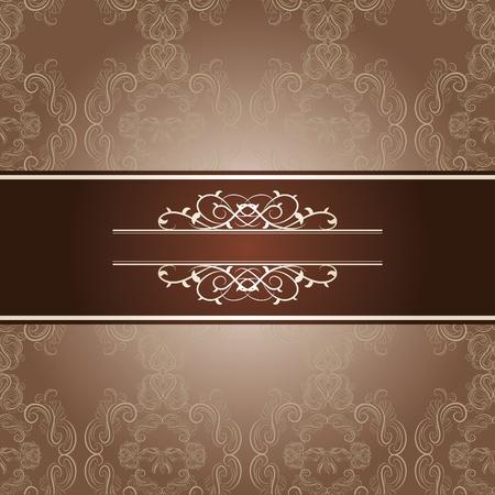 western background: elegant frame on beautiful damask background Illustration