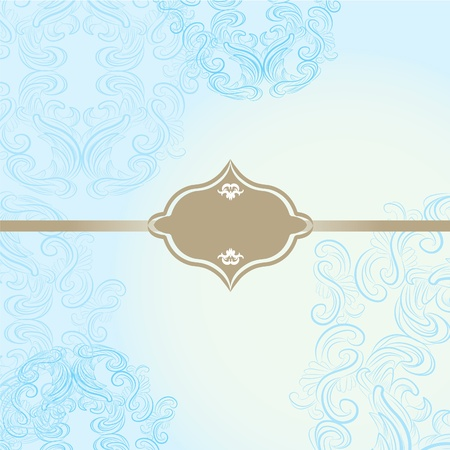 elegant frame on beautiful damask background Vector