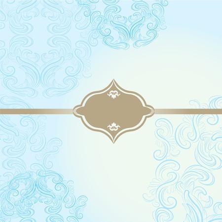 elegant frame on beautiful damask background Vector