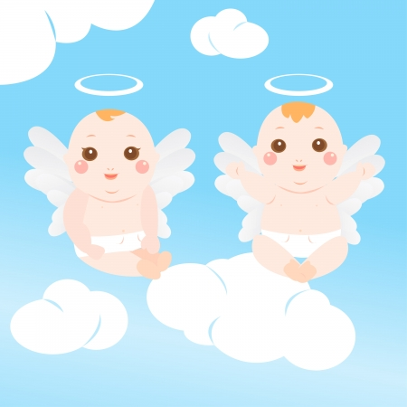 baby angels Vector