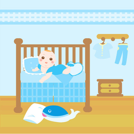 baby blue room Vector
