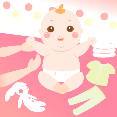 changing clothes: cute baby changing clothes
