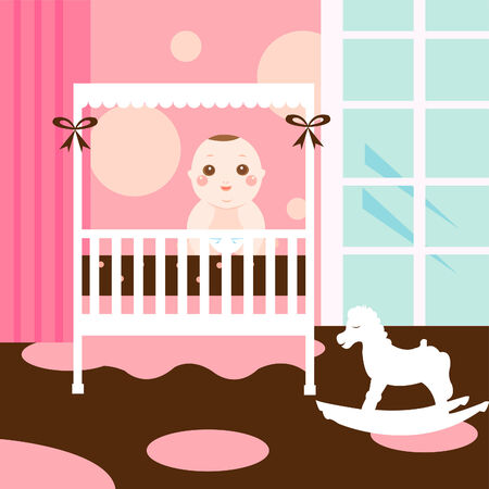 baby sweet room Vector