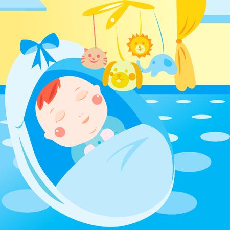 cute newborn baby sleeping Stock Vector - 22827516