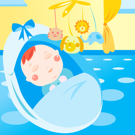 cute newborn baby sleeping Stock Vector - 22827516