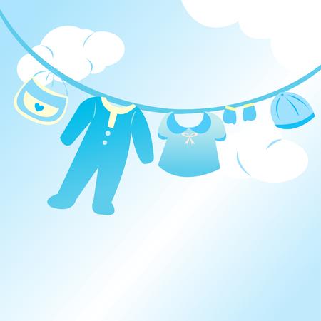 baby boy clothing card Vector