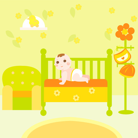 baby eco room Vector