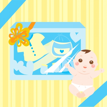 baby gift: baby gift and present Illustration