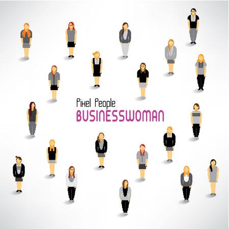 recolectar: un gran grupo de mujeres empresarias se re�nen icono de dise�o vectorial Vectores