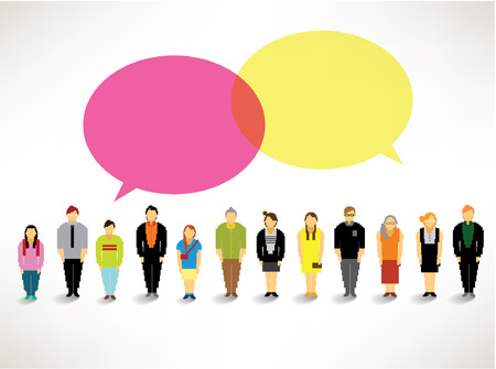 a large group of people gather together vector icon design Vector
