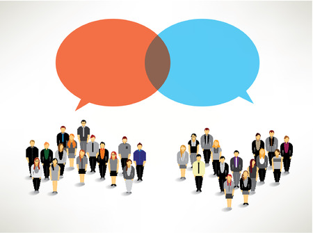 a large group of business people gather together vector icon design Vector