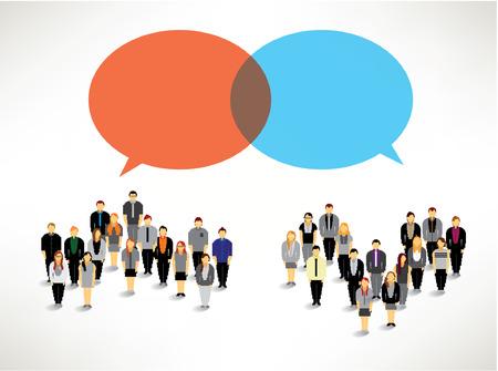 een grote groep mensen verzamelen samen vector pictogram ontwerp
