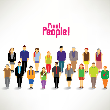 A big group of people gather together vector design Vector