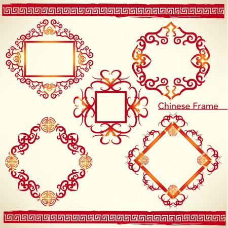 Oriental Chinese New Year Element Vector Design Vector