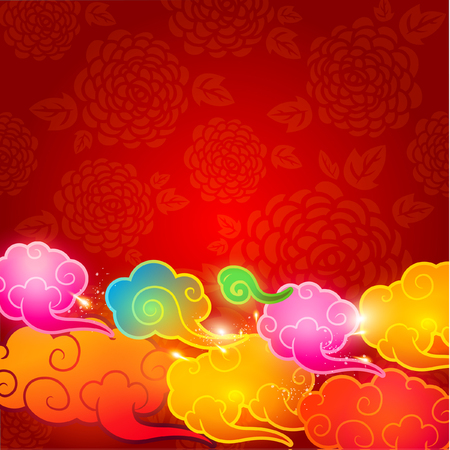 Oriental Chinese New Year Element Vector Design Stock Vector - 26072281