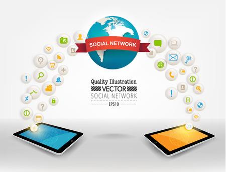 Creative Social Network Computing 向量圖像