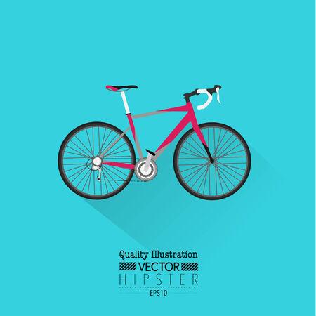 bicicleta vector: Icono del vector de la vendimia plana de bicicletas Vectores