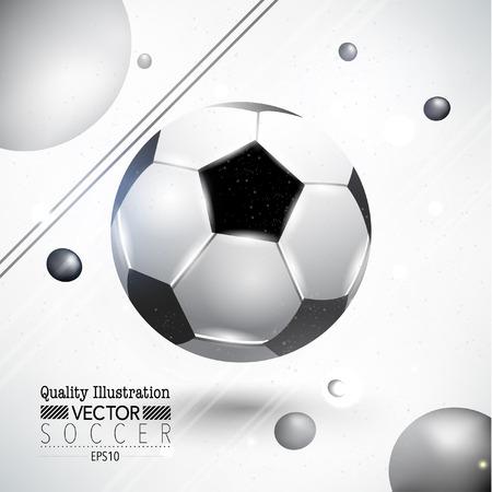 創造的なサッカー サッカー スポーツ ベクトル イラスト デザイン