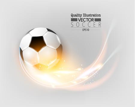 Creative Soccer Football Sport Vector Illustration Design