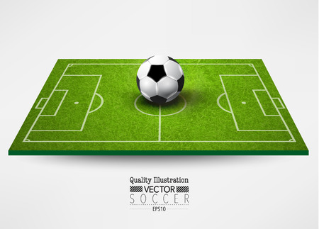 soccer field: Creative Soccer Football Vector Graphic Design Illustration