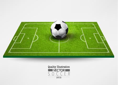 deportes colectivos: Creativo de F�tbol Soccer Vector Dise�o Gr�fico Ilustraci�n
