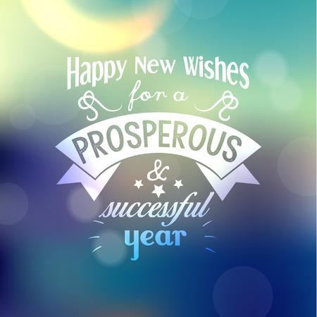 Frohes Neues Jahr Greetings Quote Vector Design Lizenzfrei Nutzbare ...