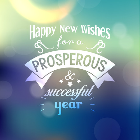 new message: Happy New Year Greetings Quote Vector Design