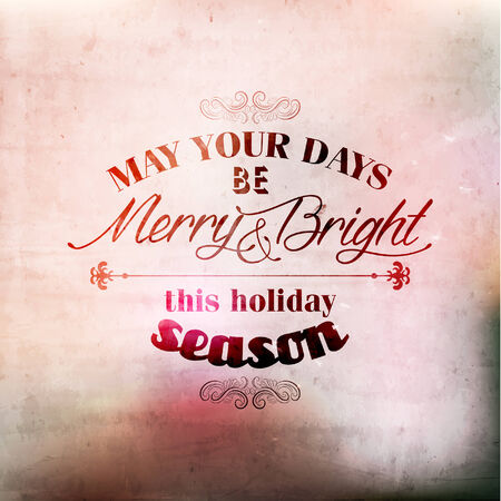 Merry Christmas Greetings Quote Vector Illustration Design Illustration