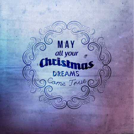 wording: Merry Christmas Greetings Quote Vector Illustration Design Illustration