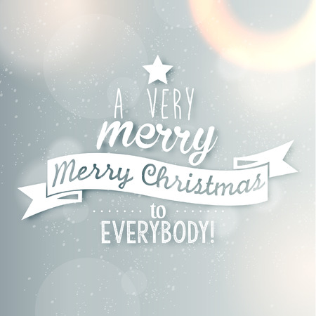 christmas banner: Merry Christmas Season Greetings Quote Vector Design