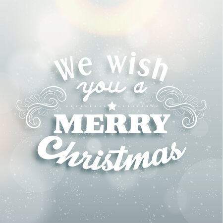 wording: Merry Christmas Season Greetings Quote Vector Design