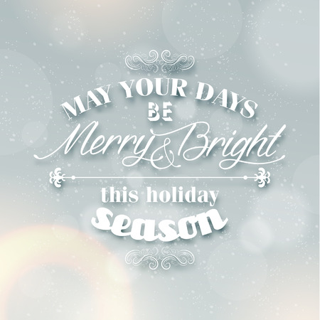 Merry Christmas Season Greetings Quote Vector Design