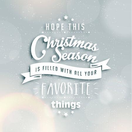 season greetings: Joyeux No�l salutations de saison Quote Vector Design Illustration