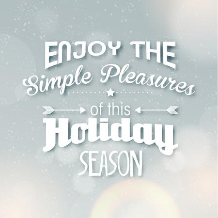 season greetings: Joyeux No�l salutations de saison Citation Vector Design
