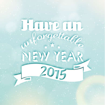 season greetings: Happy New Year 2015 salutations de saison Quote Vector Design
