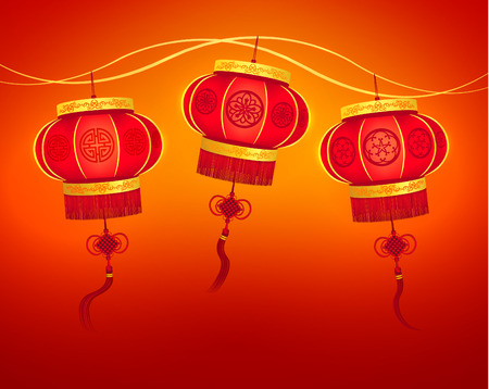 chinese new year element: Oriental Chinese New Year Element Vector Design