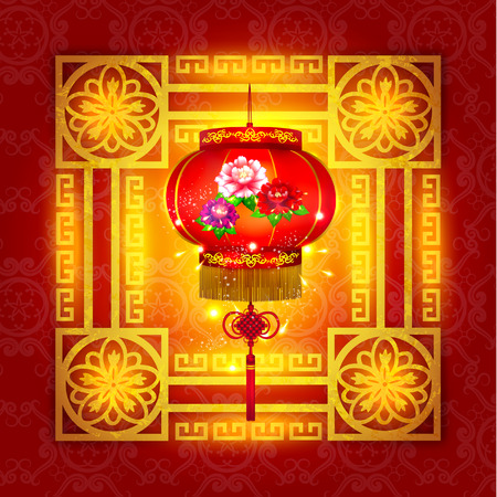 chinese new year decoration: Happy Chinese New Year Decoration Vector Design