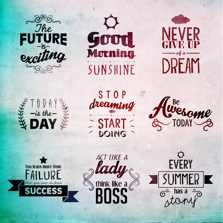motivating: Inspirational and encouraging quote typography vector design Illustration