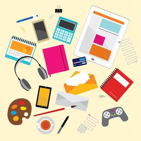 articulos oficina: Creativo Elementos de diseño vectorial para su Negocio Oficina Laboral