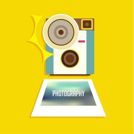 videographer: Vintage Flat Camera Icon Vector Illustration Design